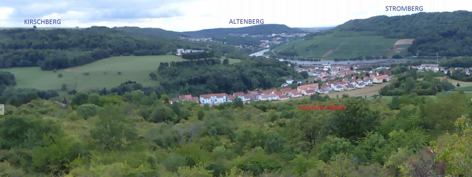 Quatre collines principales bordent la Moselle.